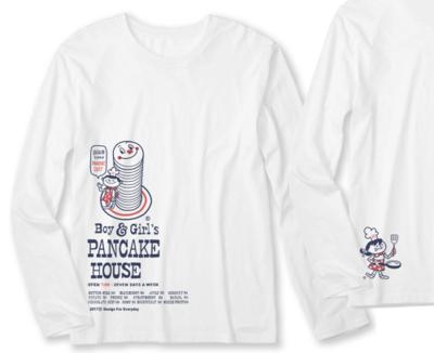 Boy & Girl's パンケーキ_長袖Tシャツ.png