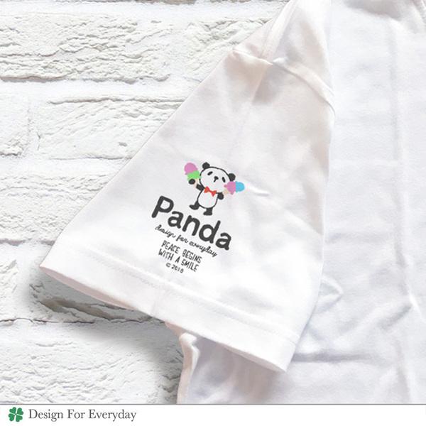 パンダと緑の木【Panda & Green Tree】 Tシャツ 袖 .jpg