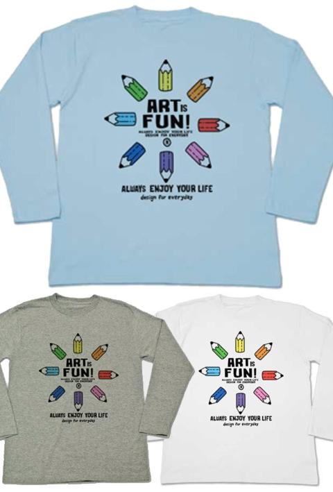 カラフル・ペンシル〜ART IS FUN!〜_ロンT_長袖Tシャツ.jpg