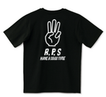 WOLD RPS 世界ジャンケン イエローTシャツ 後ろ