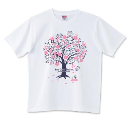 桜_チェリーブロッサム・パンダ_Tシャツ
