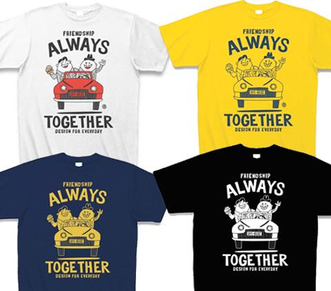 ビーンズマンとレトロ車Tシャツ_アメコミ_カラー.jpg