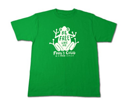 Frog(カエルさん)〜be free〜 Tシャツ グリーン 緑.png