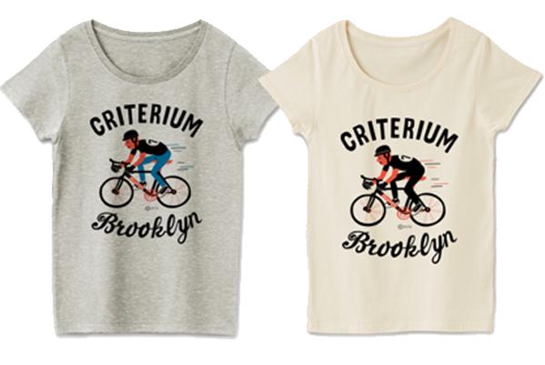 ブルックリン★自転車レース_レディースTシャツ.png