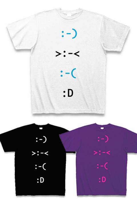 外国の顔文字 喜怒哀楽Tシャツ.jpg