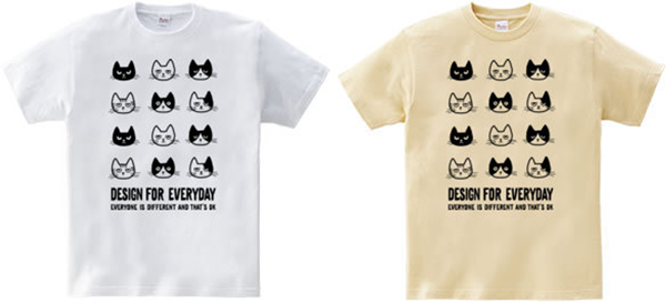EVERYONE IS DIFFERENT AND THAT'S OK 〜ねこシリーズ〜_Tシャツ.png