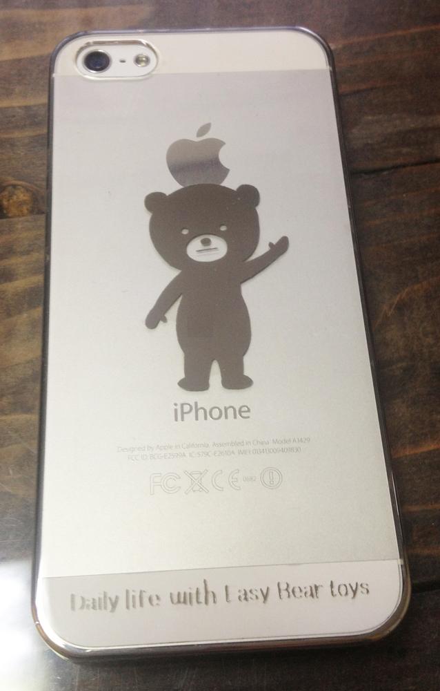 イージー☆ベア シルバー iphone5/5sケース.jpg