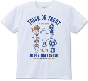 TRICK OR TREAT〜HAPPY HALLOWEEN〜_ホワイト_Tシャツ.png